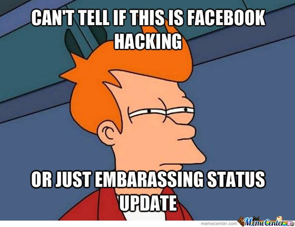 Can't Tell... Embarrassing Facebook Post Meme