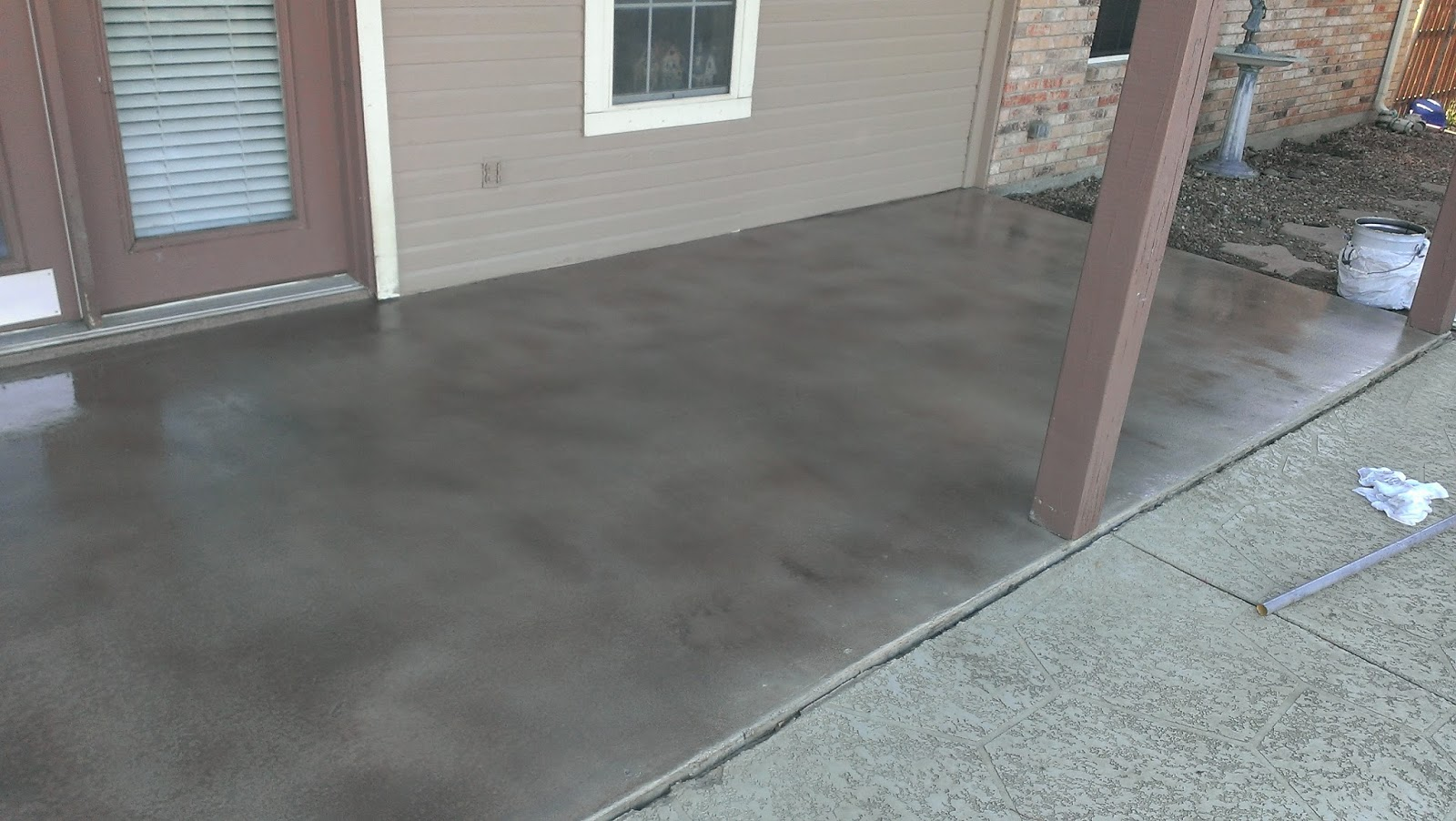 Stained Concrete Patio   Prosper, Texas