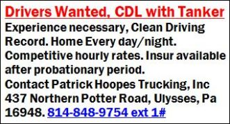 CDL Drivers W/Tanker Wanted