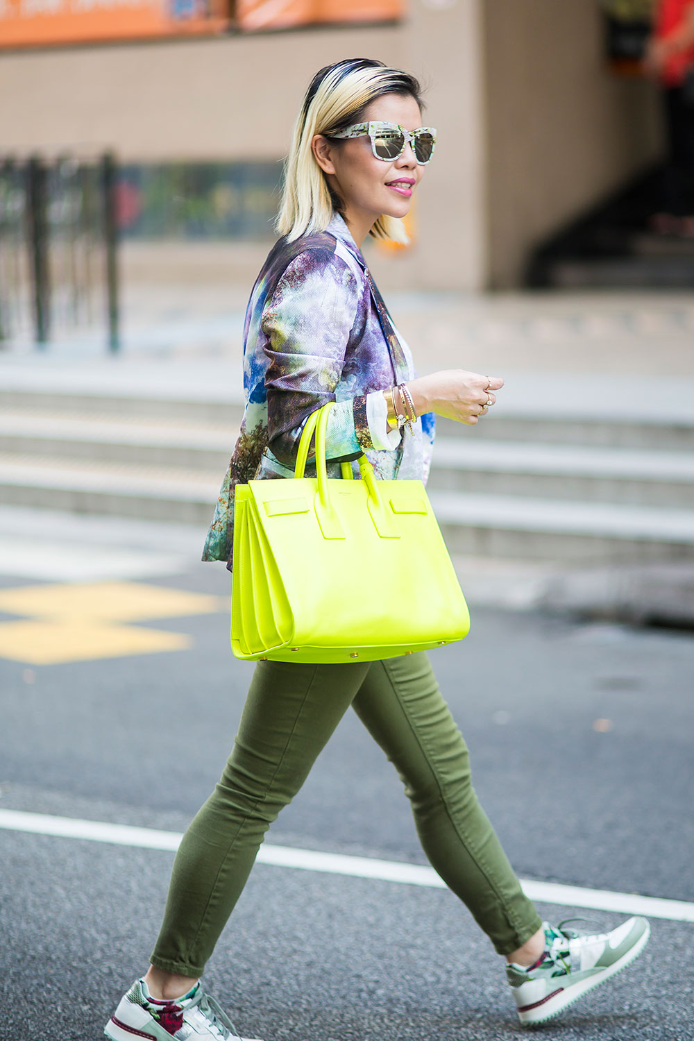 Crystal Phuong- Fashion Blogger- Going green street style