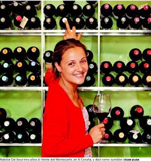 """Entrevista en La Voz de Galicia con Natalia Cid, sumiller: """"Si se bebiese más vino, habría menos botellón"""""""