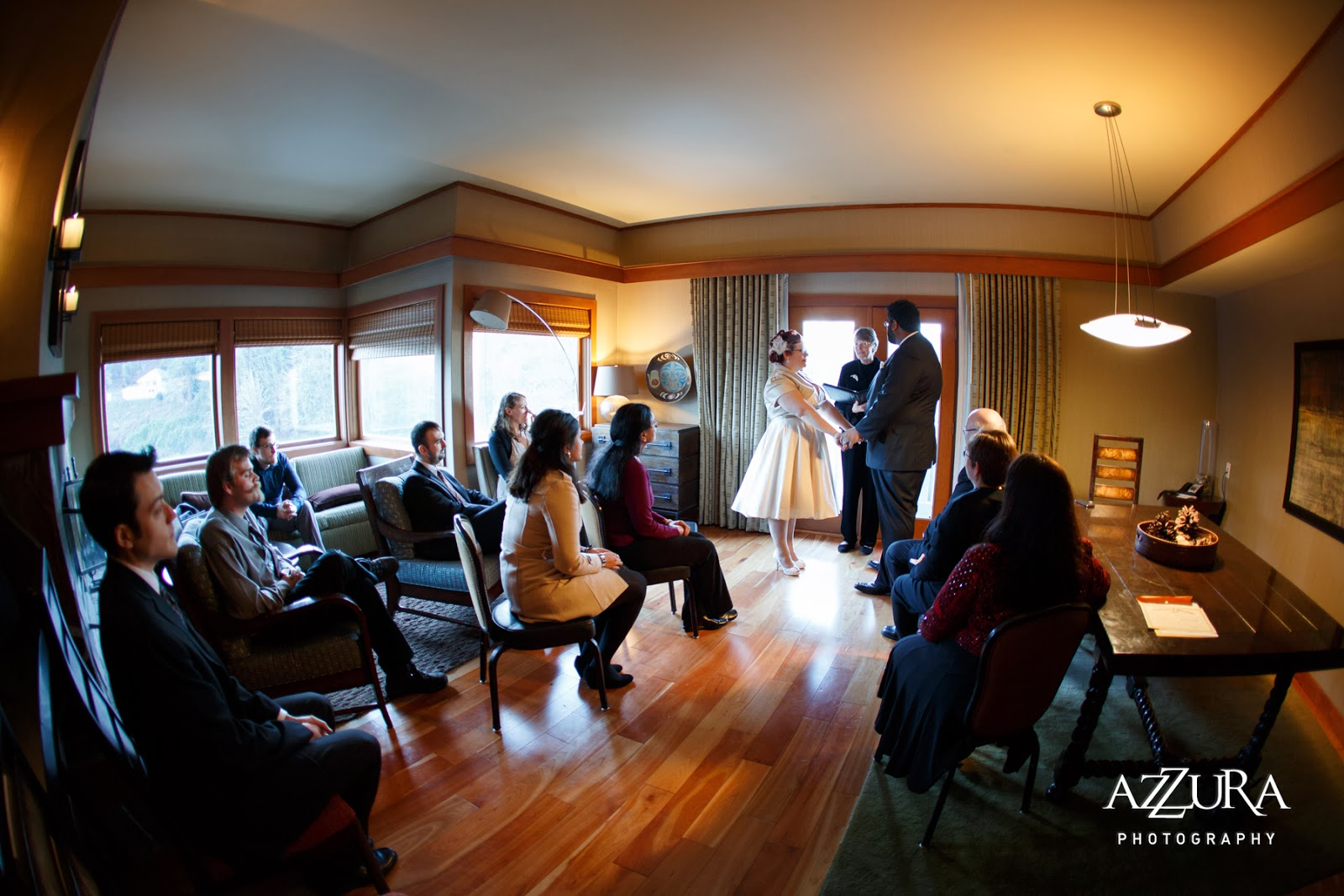 Intimate wedding ceremony of Ankur and Abby - Patricia Stimac, Seattle Wedding Officiant