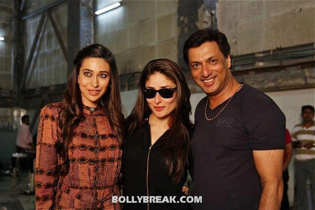 Kareena Karishma Kapoor with Madhur Bhandarkar - (13) - Kareena Kapoor Madhur Bhandarkar Heroine Movie On the Set Pics