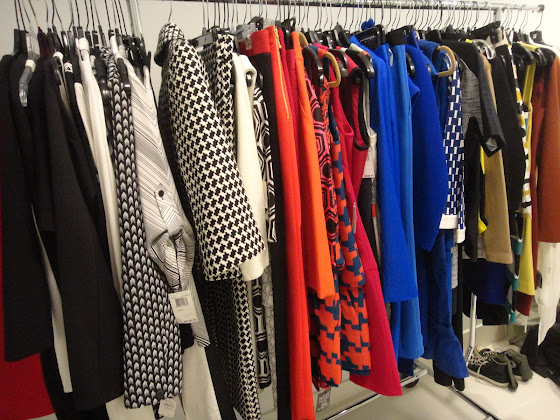 Behind the scenes: fashion wardrobe  for a Kohler Strayt photo shoot