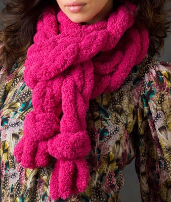 Cachecol Pink em tricot