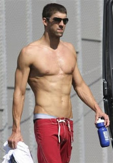 Michael Phelps after gym workout