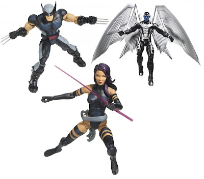 SDCC 2012 Exclusive Uncanny X-Force Marvel Legends Action Figure 3 Pack by Hasbro - Wolverine, Archangel & Psylocke