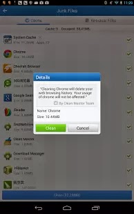 Clear your junk files, cache memory, free up RAM with this FREE App : Clean Master for Android smart phones and tablets