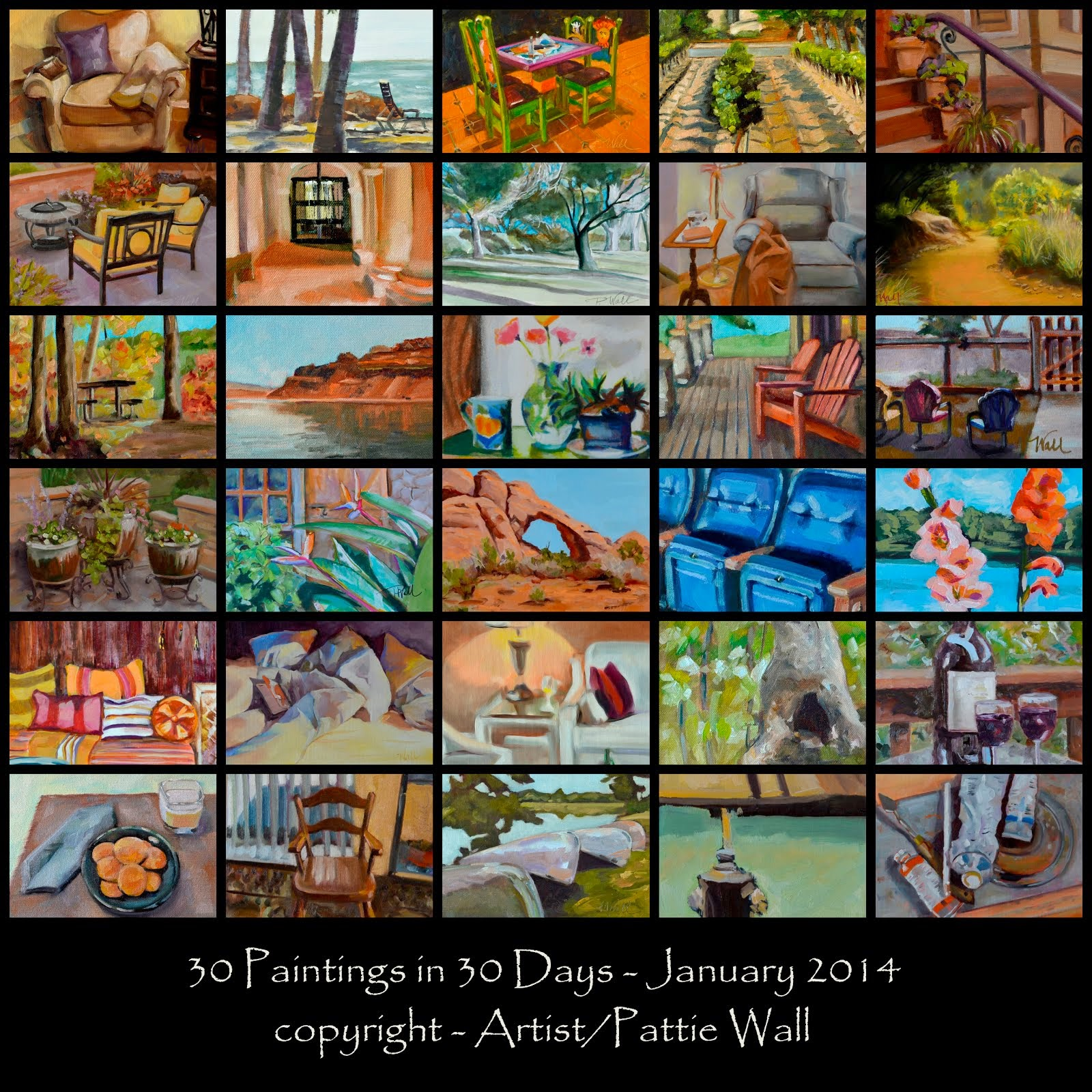30 Paintings in 30 Days - 2014