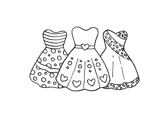 fashion coloring pages dresses - Fashion Coloring Pages