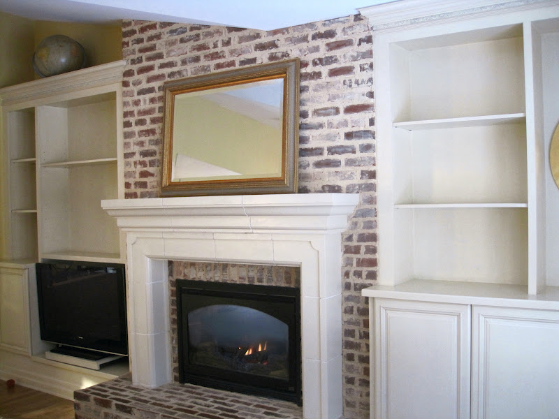 Simple details next diy project for Bookshelves next to fireplace
