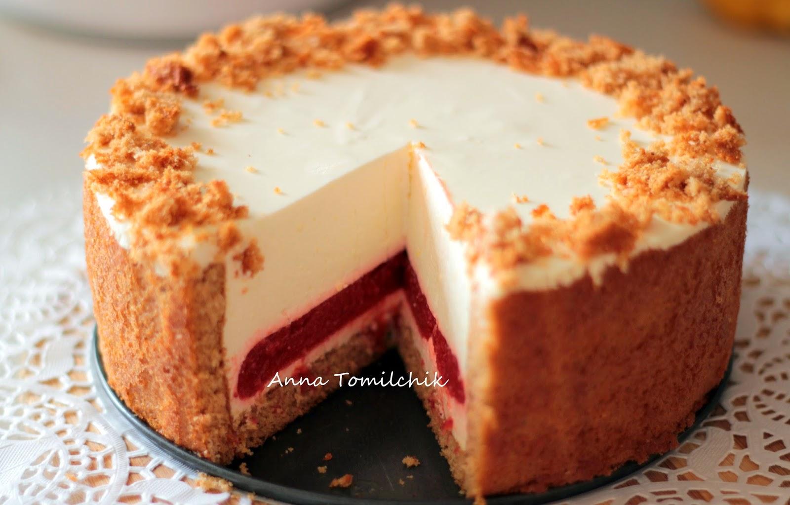 Торт Птичье молоко с манкой и лимоном (пошаговый) 28