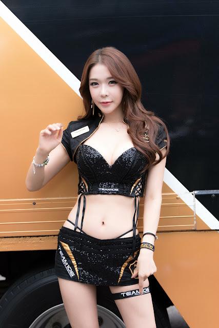 4 Uhm Ji Ah - CJ Super Race Championship - very cute asian girl-girlcute4u.blogspot.com