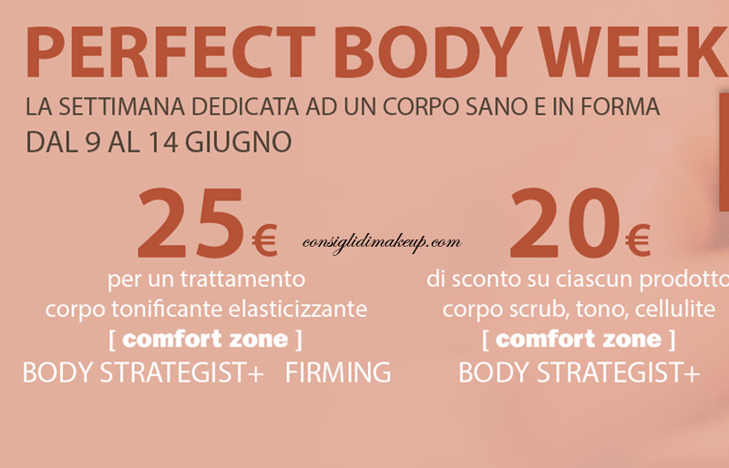 Perfect Body Week [ comfort zone ] 9-14 giugno