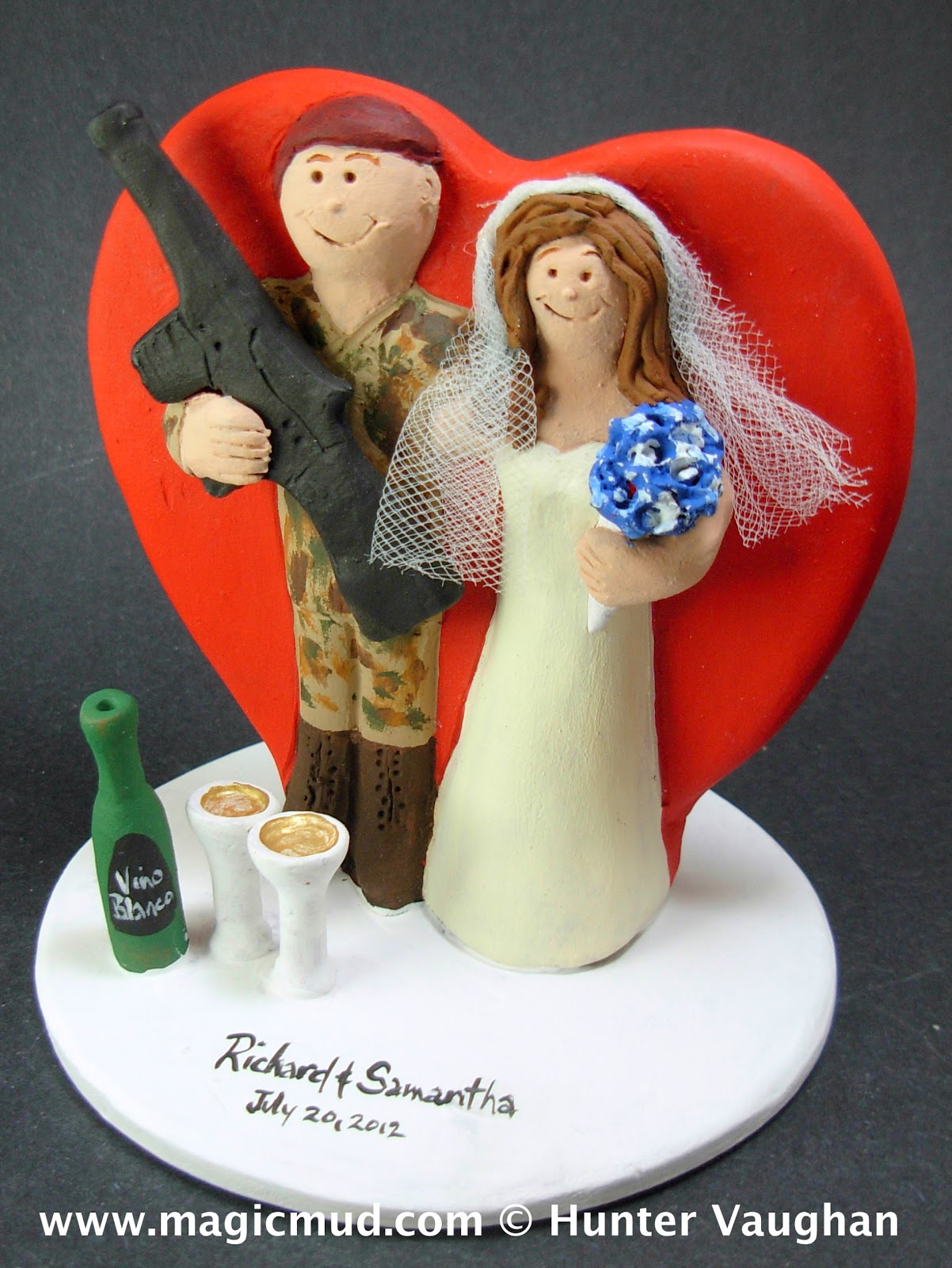 customised wedding cake toppers