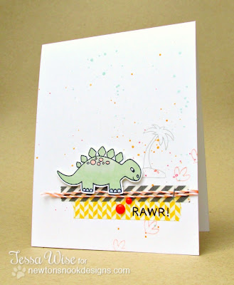 Dinosaur Card with Speckles for Newton's Nook Designs