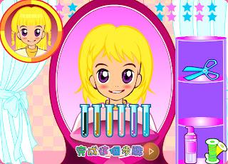 Juego de peluqueria Cortar y peinar Juegos para Chicas de