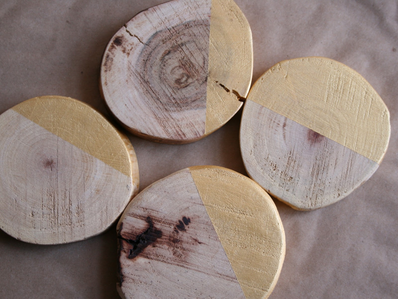 And Your Bird Can Sing Diy Gold Wood Coasters