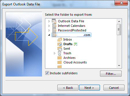 how to create a pst file in outlook