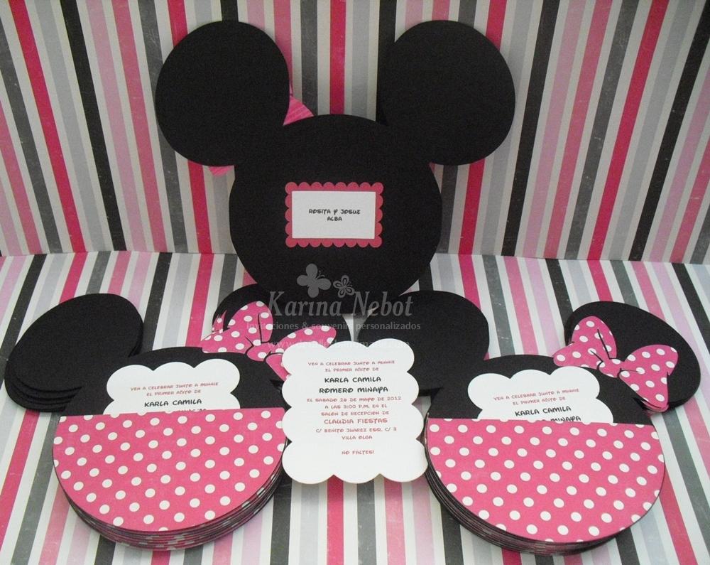 Karina nebot cumplea os minnie mouse invitaciones y dulceros - Cumpleanos minnie mouse ...