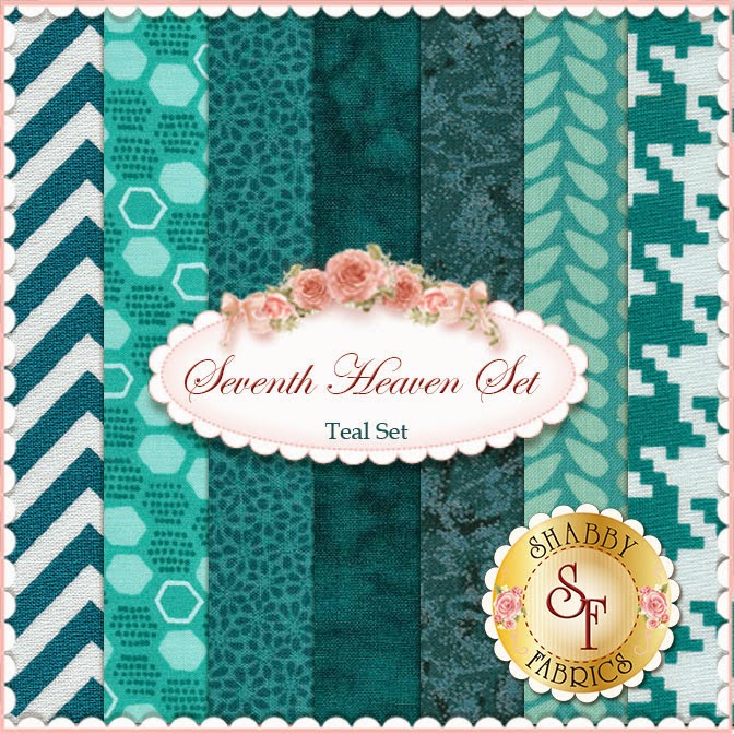 Seventh Heaven Teal FQ Set | Shabby Fabrics