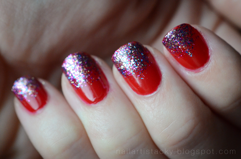 BL Come To Bed Red with Lovely Jubbly Glitter Gradient