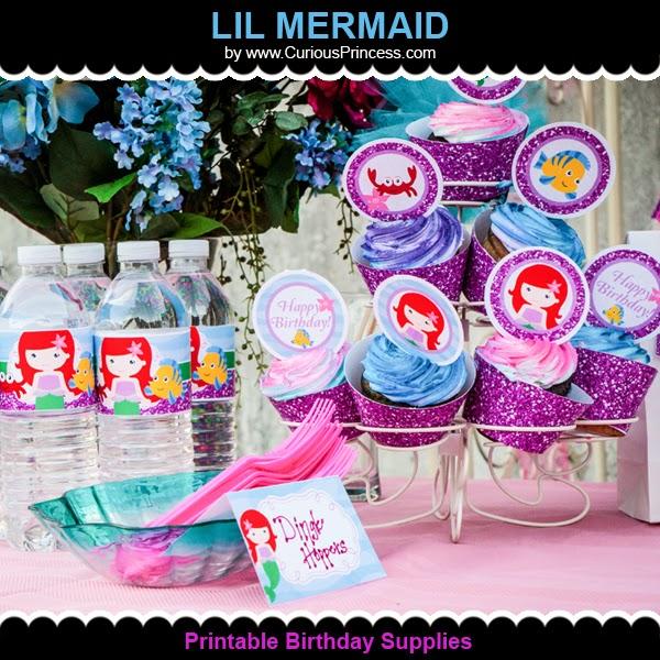 glittery lil mermaid birthday party ideas