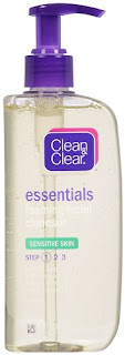 clean & clear essentials sensitive skin facial wash