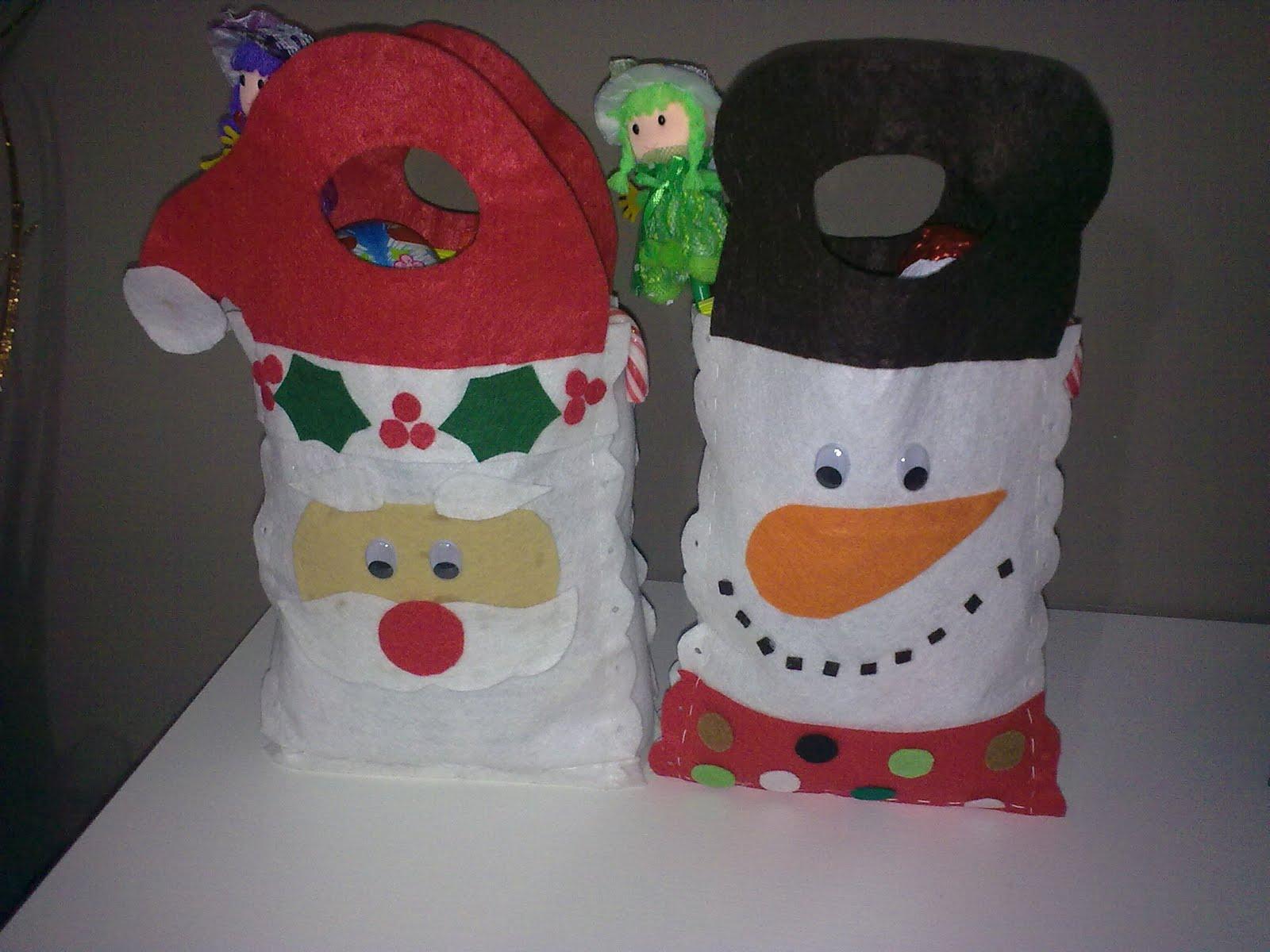 Manualidades bolsas para navidad - Videos de manualidades para navidad ...
