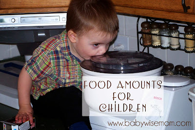 Food Portions for Children Baby-8 Years