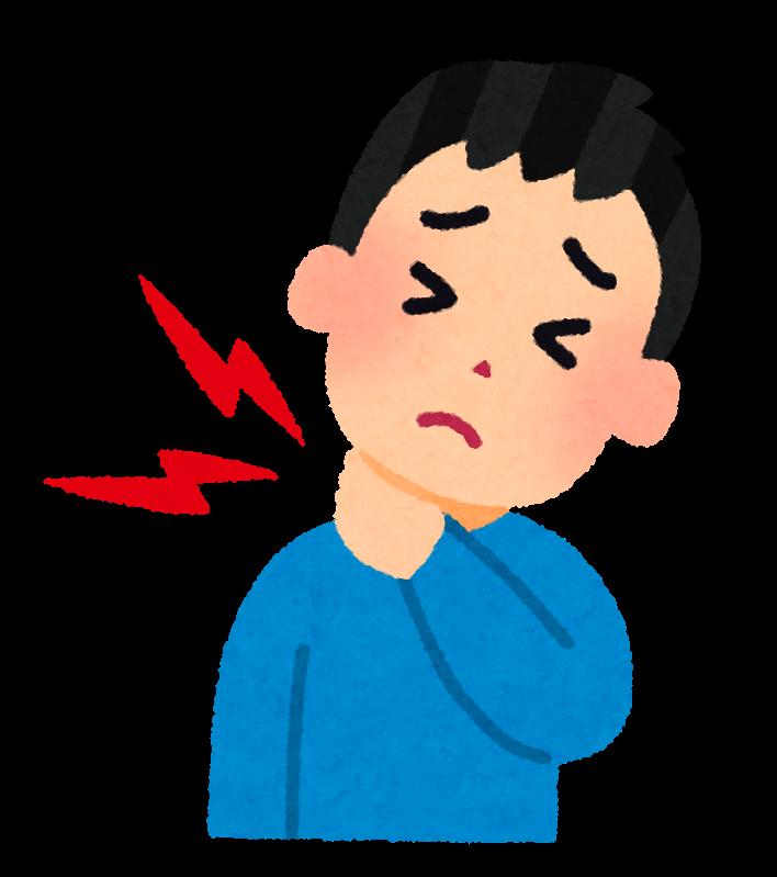 「首の痛み イラスト」の画像検索結果