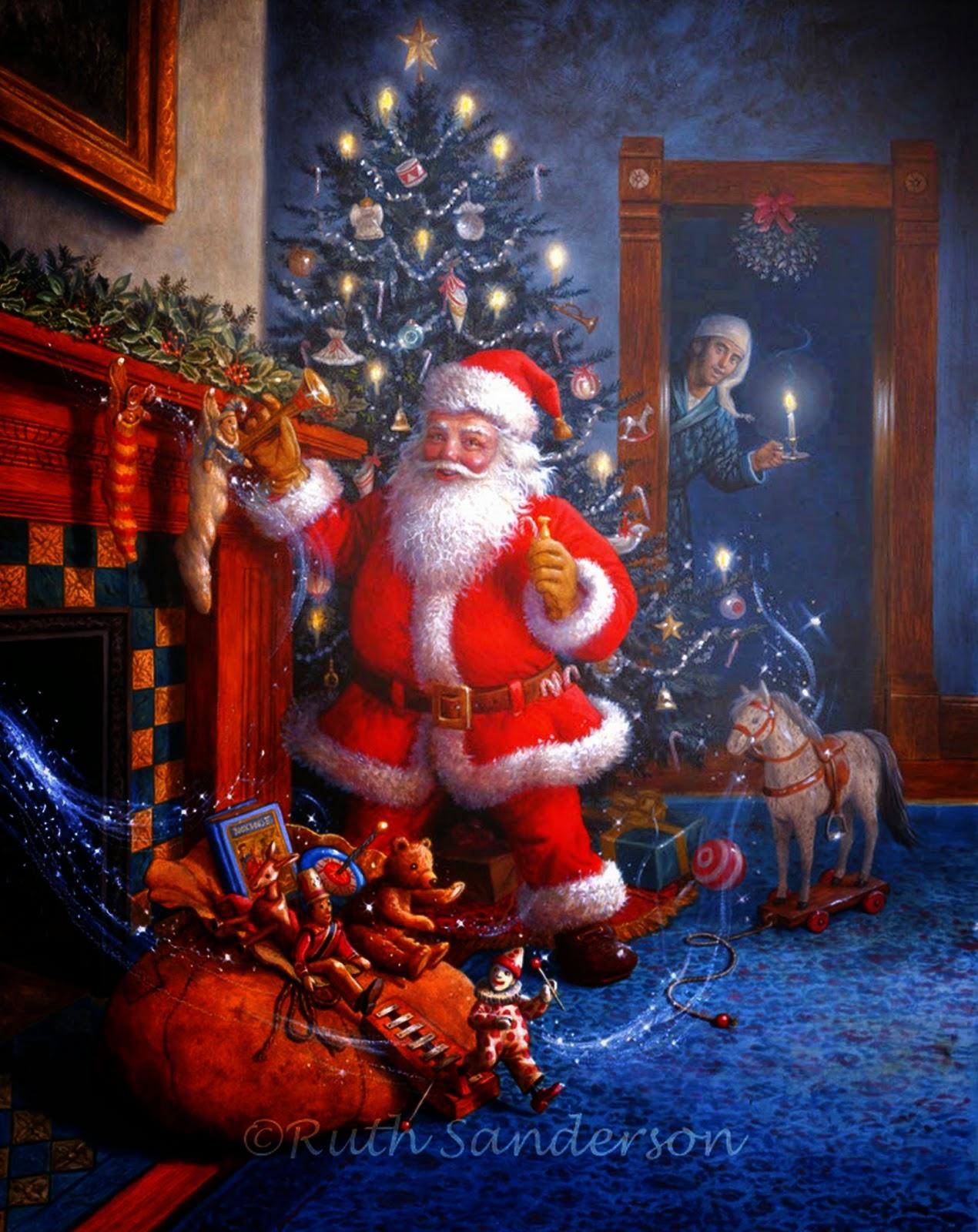 Im genes arte pinturas ideas originales para cuadros - Dibujos navidenos originales ...