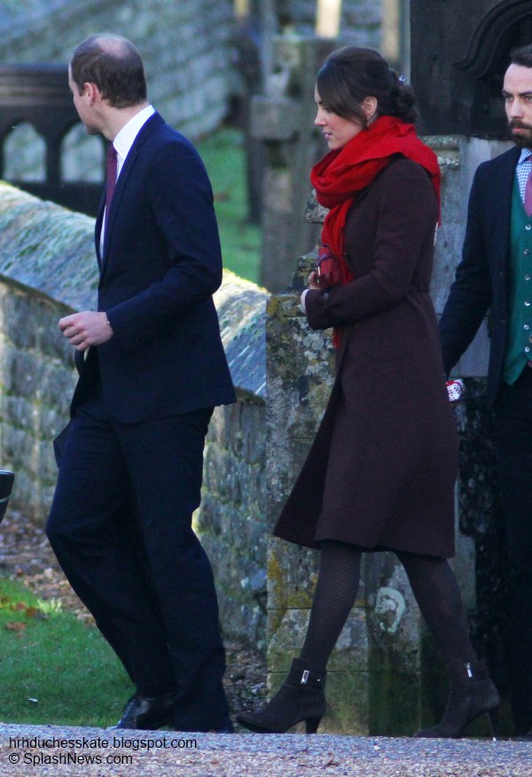 Duchess Kate: William and Kate Attend Christmas Day Service in Berkshire