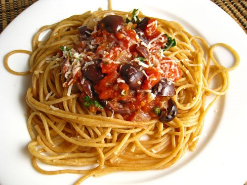 Pasta Puttanesca Recipe — Dishmaps