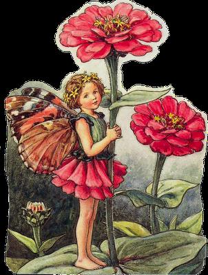 ilustración vintage hadas para scrpbooking