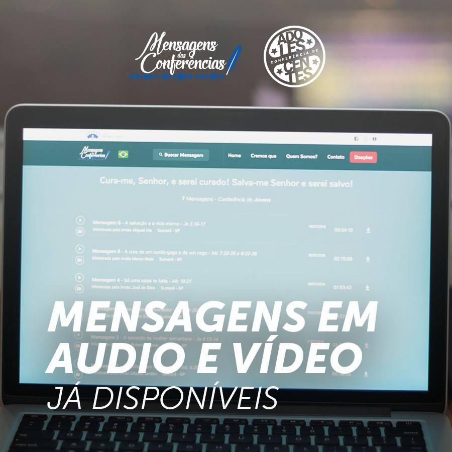 BOAS NOTICIAS!!! As mensagens da CONFERÊNCIA DE ADOLESCENTES