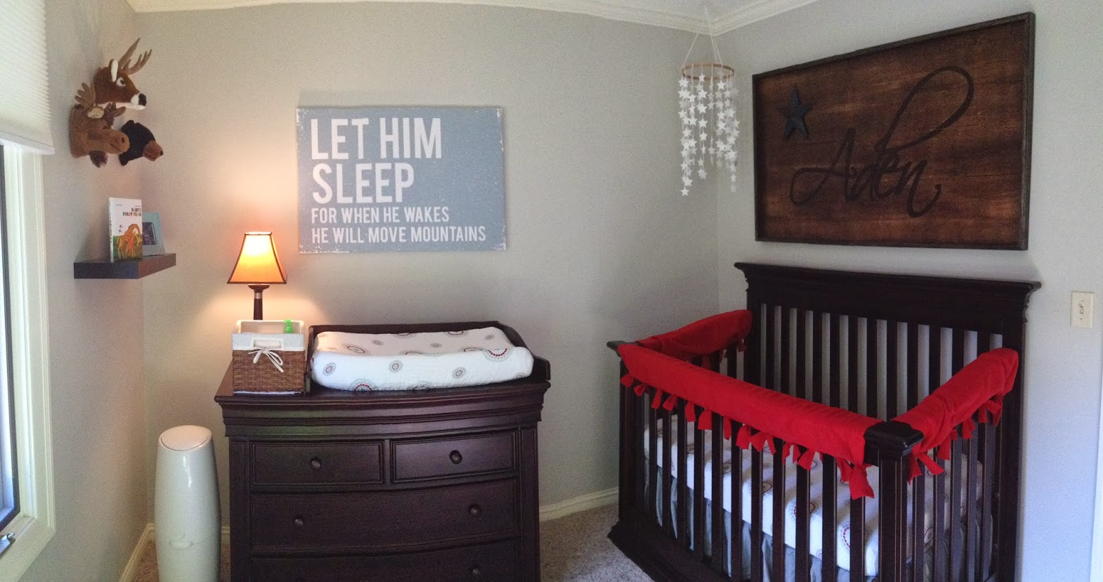I Knew Wanted One Main Focal Piece In Adens Room To Be Hung Above His Crib And It Either Include Pictures Or Our Baby Boys Name