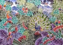 Foto Batik Tulis Corak Motif Burung