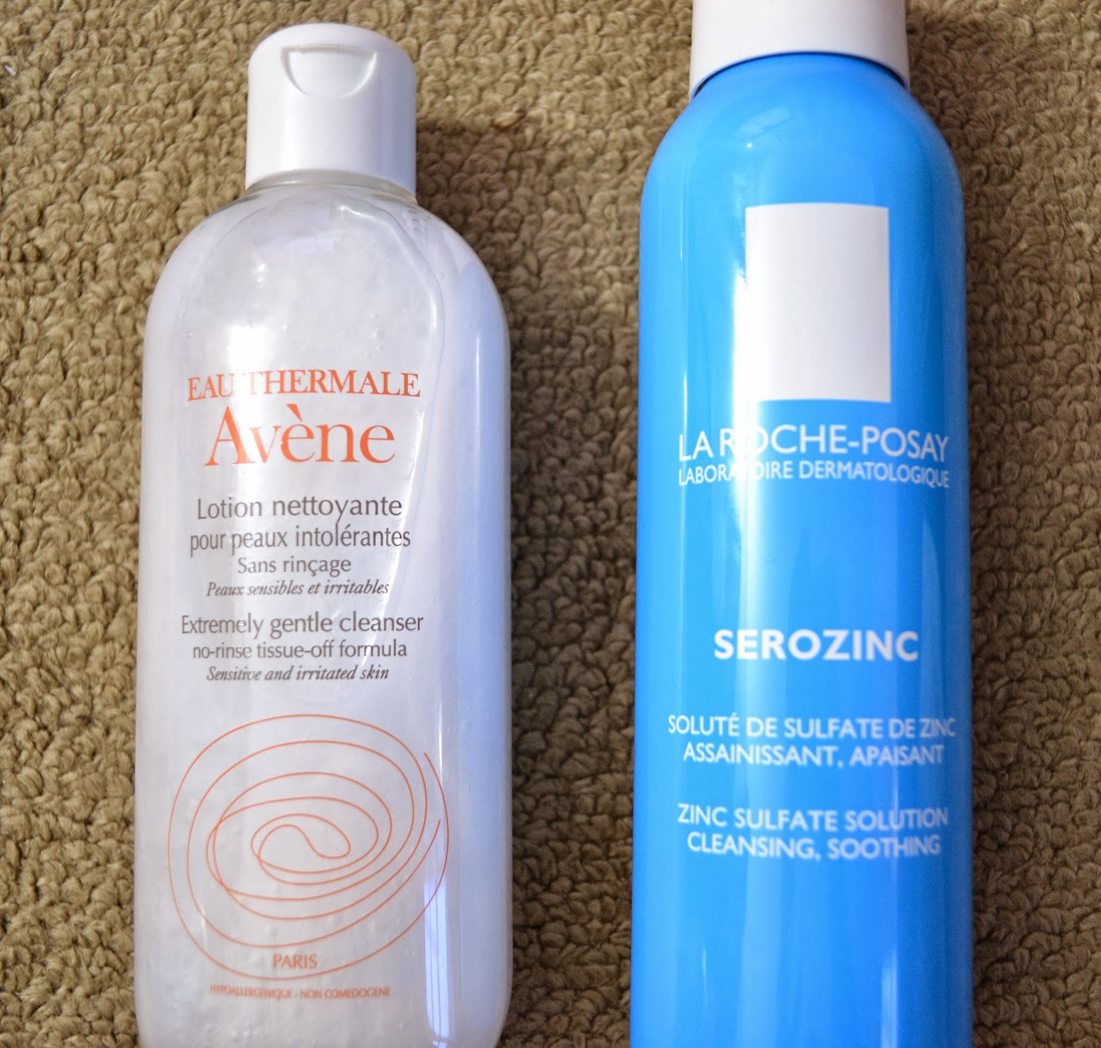 Morning Skincare Routine - avene extremely gentle cleanser, la roche-posay serozinc - Beauty by Eff
