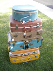 vintage suitcases...SOLD