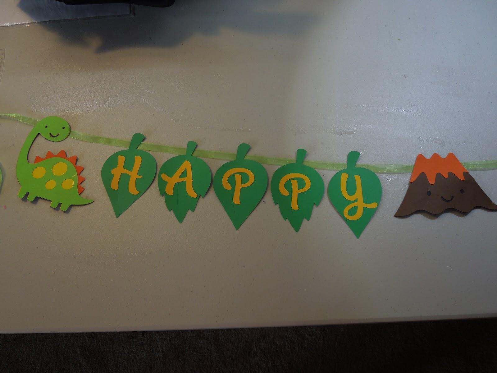... Compulsive Crafting: Dino Mite Dinosaur Birthday Banner- FOR SALE