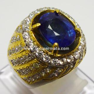 Batu permata Royal Blue Sapphire -  Kode 18L01