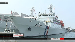 Taiwan has commissioned a large patrol ship to monitor waters near the disputed Senkaku Islands in the East China Sea. The islands are controlled by Japan but also claimed by Taiwan and China.