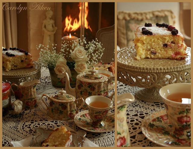 Открытка приглашение на чашку чая