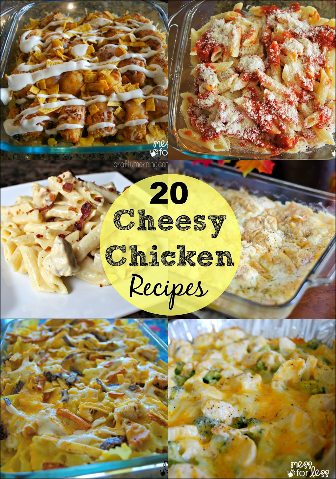 20 Cheesy Chicken Recipes - Family friendly recipes sure to please the entire family!