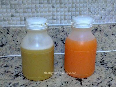 Alecrim Delivery: Sucos de Abacaxi, Maçã e Gengibre e de Laranja com Cenoura