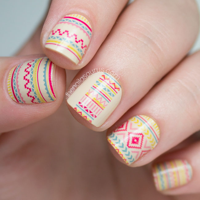 Incoco desert sunset tribal nail art wraps the nailasaurus uk incoco tribal beats desert sunset prinsesfo Image collections