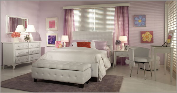 Not pink and beautiful teen girl bedrooms room design inspirations - Beautiful bedrooms for girls ...