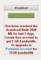 Download Limit di tusfiles