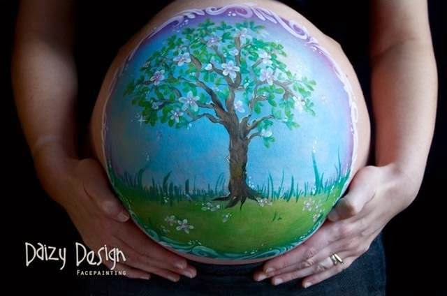 Pregnant Belly Bump Painting — Pregnancy belly painting is growing increasingly popular. It is a beautiful and unique way to celebrate your pregnancy and capture that moment forever. Relax for an hour or so as your belly is transformed, then take a few snap shots to keep forever.We can even come to you in the comfort of your own home. You decide what you want painted, whether it be matching the nursery, or just something you love. We can help you design the perfect image. Check out the gallery for bumps we have painted already!